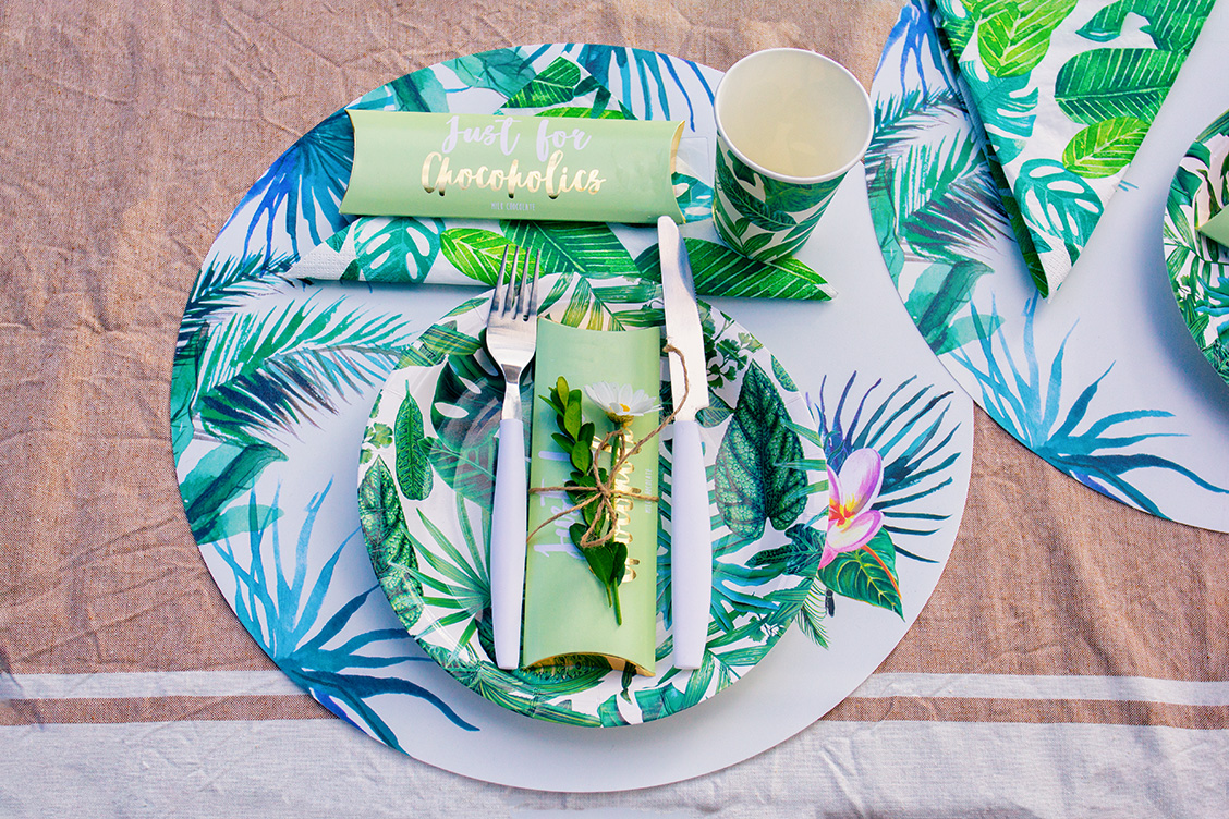 7tropical gartenparty sommerparty tischdekoration junglestyle lucinacucina lucinaslife urbanjungle