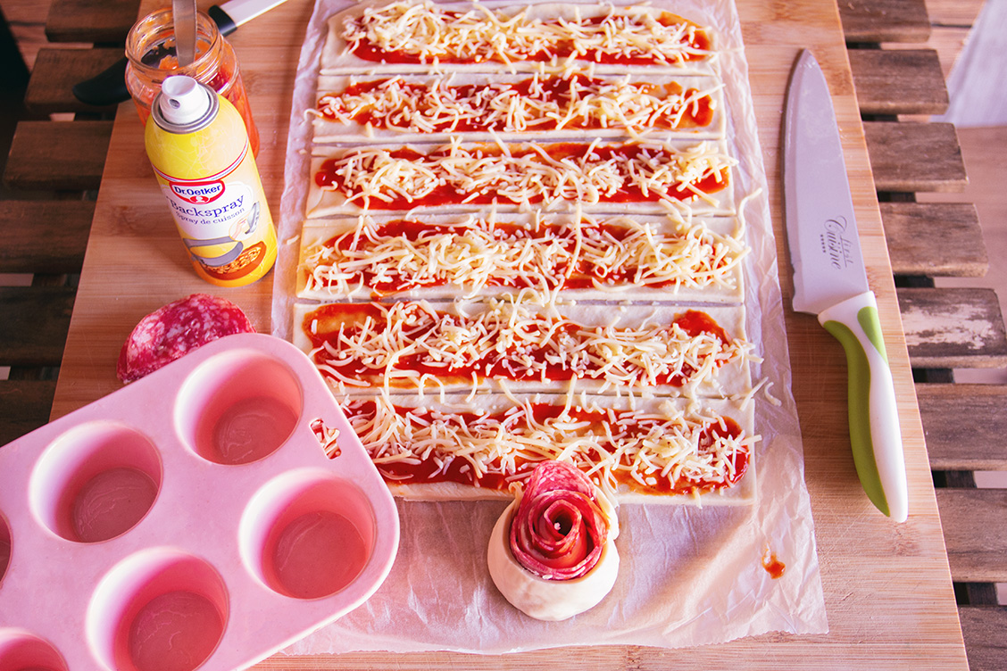 12 pizzarosen rezept maedelsabend party snack snack