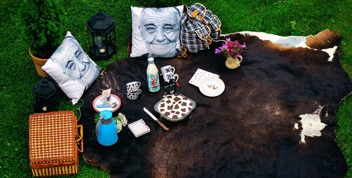 Garten-Kuh-Picknick